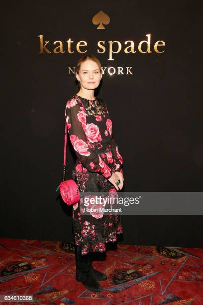 Actress Jennifer Morrison poses at kate spade new york Spring 2017 Fashion Presentation at Russian Tea Room on February 10, 2017 in New York City.