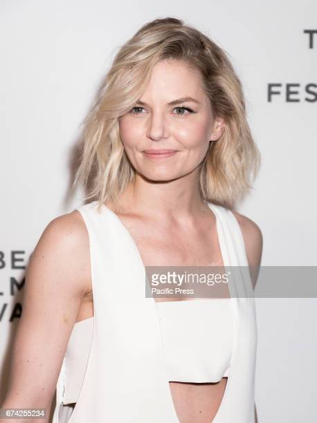 Actress Jennifer Morrison wearing dress by Opening Ceremony attends Tribeca Gala The Circle Premiere during the 2017 Tribeca Film Festival at BMCC...
