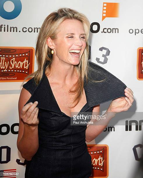 Actress Jennifer Newsom arrives at the 6th annual HollyShorts film festival opening night celebration at Laemmle Sunset 5 Theatre on August 5, 2010...
