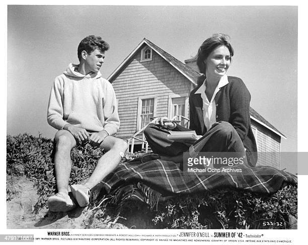 Actress Jennifer O'Neill and actor Gary Grimes in a scene from the Warner Bros movie Summer of '42 circa 1971