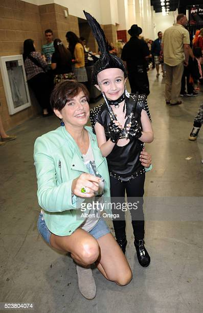 Actress Jennifer Rubin poses with Cassidy dressed as her character Taryn from A Nightmare On Elm Street 3 Dream Warriors at the 2016 Monsterpalooza...