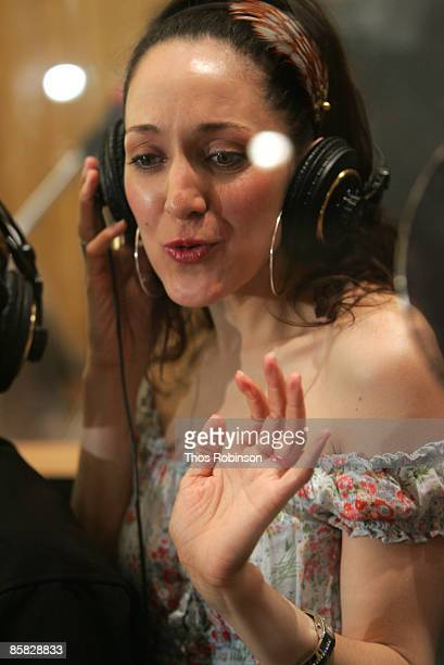 Actress Jennifer Sanchez attends a recording session for West Side Story at Clinton Studio on April 6 2009 in New York City