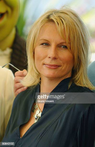 """Actress Jennifer Saunders attends the photocall for """"Shrek 2"""" on May 15, 2004 at the Palais de Festival, in Cannes, France."""