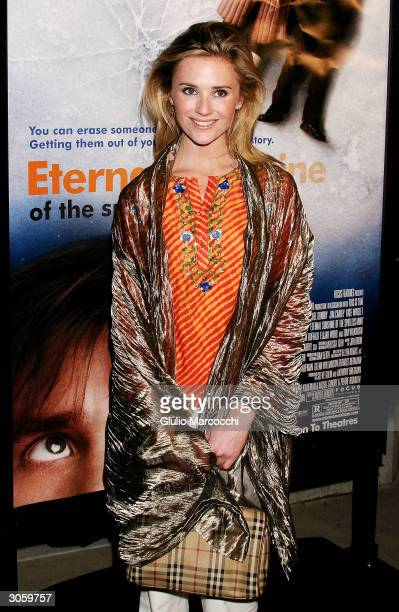 Actress Jennifer Siebel arrives at the world premiere of Focus Feature's Eternal Sunshine of the Spotless Mind on March 9 2004 at the Samuel Goldwyn...