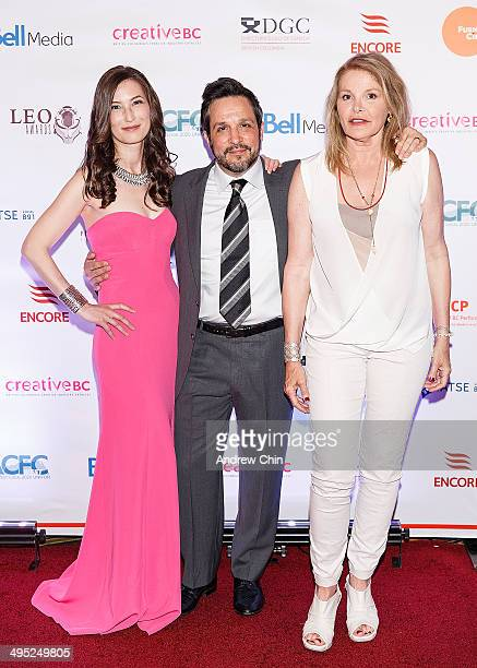 Actress Jennifer Spence Director Benjamin Ratner and Helen Shaver attend the 2014 Leo Awards Gala Awards Ceremony at Fairmont Hotel Vancouver on June...