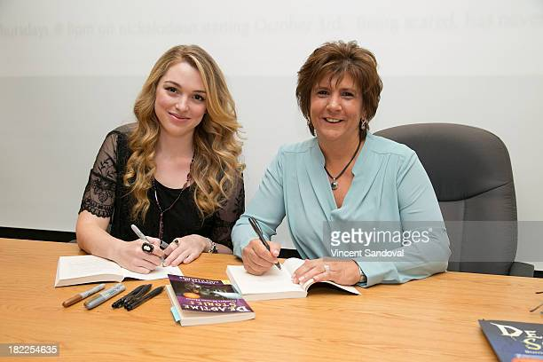 Actress Jennifer Stone and author Annette Cascone attend their Meet and Greet celebrating their new Nickelodeon series Deadtime Stories at Barnes...