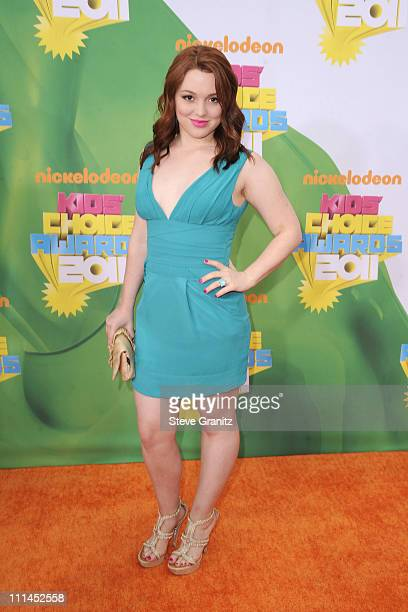 Actress Jennifer Stone arrives at Nickelodeon's 24th Annual Kids' Choice Awards at Galen Center on April 2 2011 in Los Angeles California