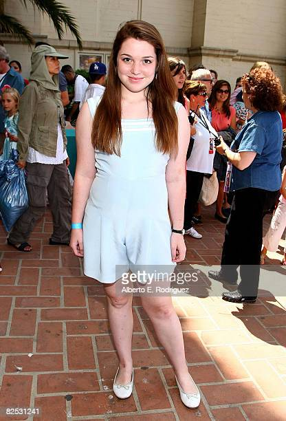 Actress Jennifer Stone arrives at the DVD launch of Walt Disney's 'Little Mermaid Ariel's Beginning held at the Avalon Casino on Catalina Island on...