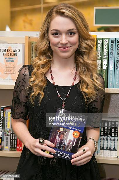 Actress Jennifer Stone attends her Meet and Greet celebrating her new Nickelodeon series Deadtime Stories at Barnes Noble bookstore at The Grove on...