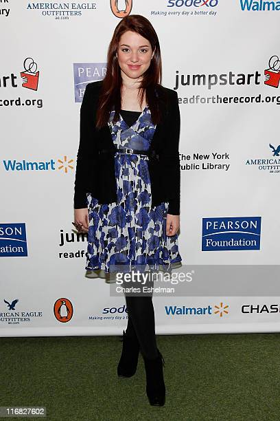 Actress Jennifer Stone attends Jumpstart's 4th Annual National Read for the Record Day at The New York Public Library on October 8 2009 in New York...