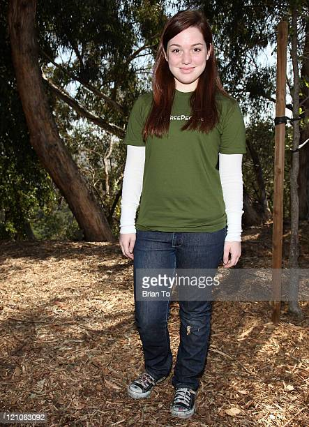Actress Jennifer Stone attends Leeza Gibbons Joins TreePeople for Environmentally Focused Tree Planting on April 16 2009 at Coldwater Canyon Park in...