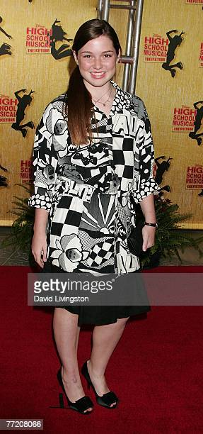 Actress Jennifer Stone attends the Los Angeles gala of Disney's High School Musical The Ice Tour at Staples Center on October 5 2007 in Los Angeles...