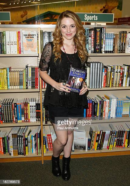 Actress Jennifer Stone celebrates her new Nickelodeon series Deadtime Stories at Barnes Noble bookstore at The Grove on September 28 2013 in Los...