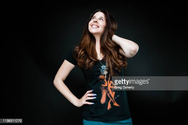 Actress Jennifer Tapiero wearing a Cannacity Shirt Design with Photography by Michael Bezjian attends the Welcome to Cannacity 'She's Smokin' Event...