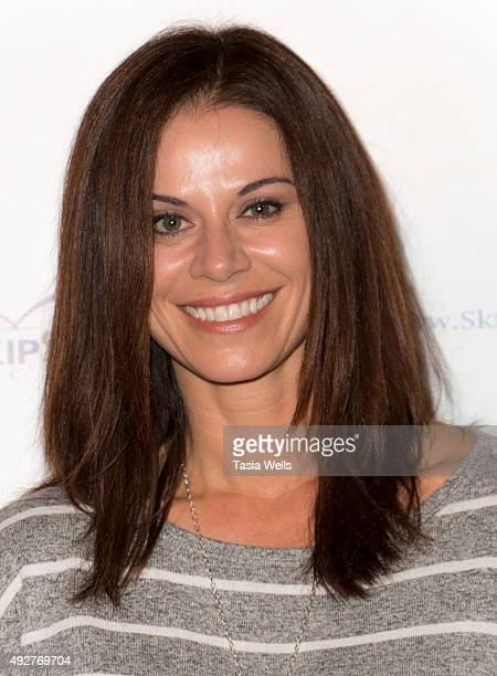 Actress Jennifer Taylor arrives at Skipstone Pictures' Saved By Grace Arrivals at Raleigh Studios on October 14 2015 in Los Angeles California