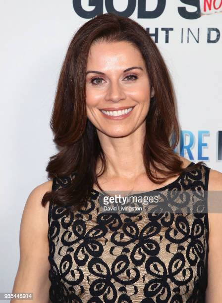 Actress Jennifer Taylor attends the God's Not Dead A Light in Darkness premiere at American Cinematheque's Egyptian Theatre on March 20 2018 in...
