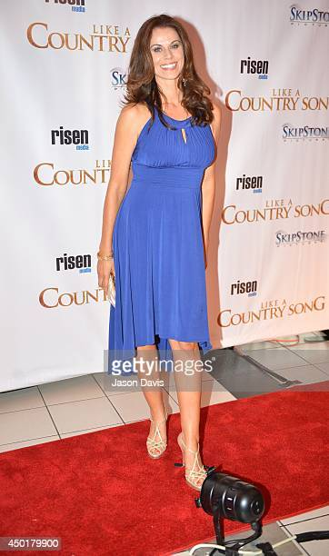 Actress Jennifer Taylor attends the Like A Country Song premiere at Regal Cinemas on June 5 2014 in Nashville Tennessee
