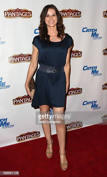 Actress Jennifer Taylor attends the opening night of Catch Me If You Can at the Pantages Theatre on March 12 2013 in Hollywood California