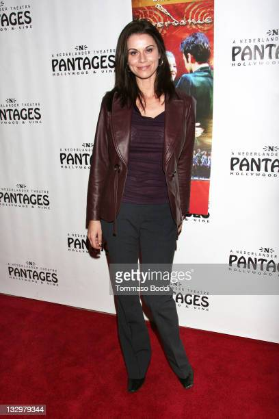 Actress Jennifer Taylor attends the Riverdance Los Angeles opening night held at the Pantages Theatre on November 15 2011 in Hollywood California