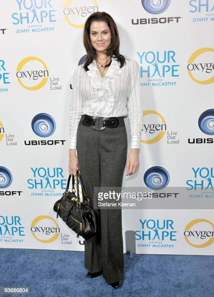 Actress Jennifer Taylor attends the Ubisoft and Oxygen YOUR SHAPE fitness game launch party at Hyde Lounge on December 2 2009 in West Hollywood...