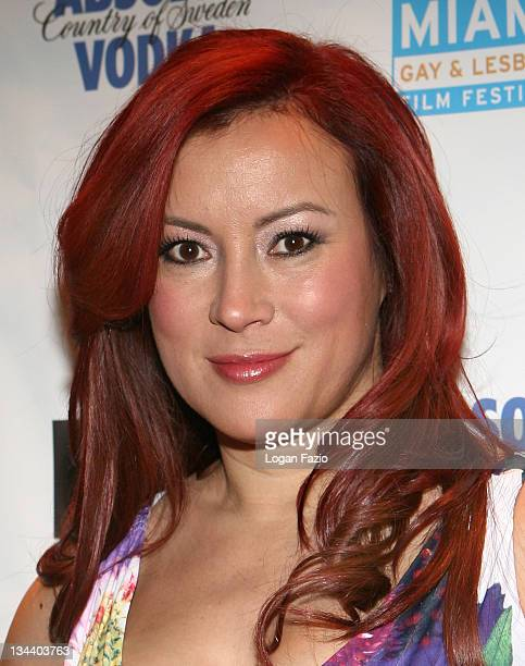 """Actress Jennifer Tilly arrives at the screening of """"Relax...It's Just Sex"""" during the Miami Gay and Lesbian Film Festival at the Regal Cinema on..."""