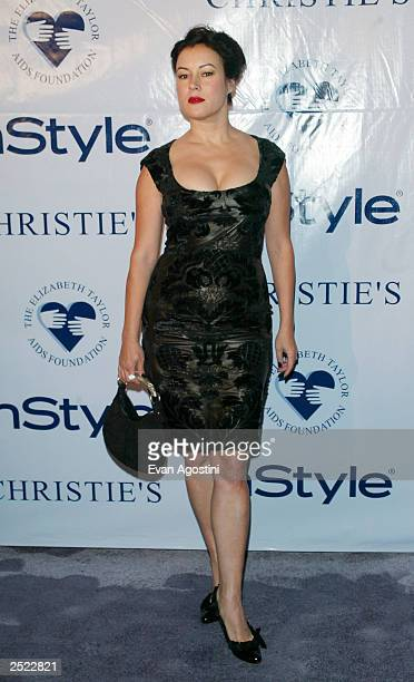 Actress Jennifer Tilly arriving at the Elizabeth Taylor My Love Affair With Jewelry gala and private auction hosted by In Style Magazine at...
