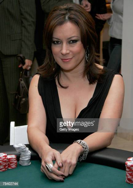 Actress Jennifer Tilly attends Belvedere Vodka's preOscar poker party held at Haven House on February 22 2007 in Beverly Hills California
