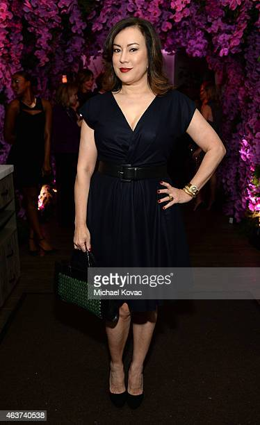 Actress Jennifer Tilly attends BVLGARI and Save The Children STOP. THINK. GIVE. Pre-Oscar Event at Spago on February 17, 2015 in Beverly Hills,...