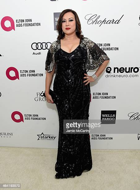 Actress Jennifer Tilly attends the 23rd Annual Elton John AIDS Foundation Academy Awards Viewing Party on February 22 2015 in Los Angeles California