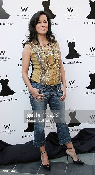 Actress Jennifer Tilly attends the annual 'Quest for the Perfect Little Black Dress' gala to raise money for STOP CANCER at the W Hotel on June 7...