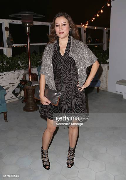 Actress Jennifer Tilly attends the Baku Magazine Party at Soho Beach House during Miami Art Basel on December 4 2012 in Miami Beach Florida Baku...