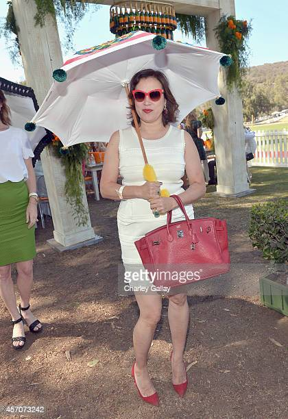 Actress Jennifer Tilly attends the FifthAnnual Veuve Clicquot Polo Classic at Will Rogers State Historic Park on October 11 2014 in Pacific Palisades...
