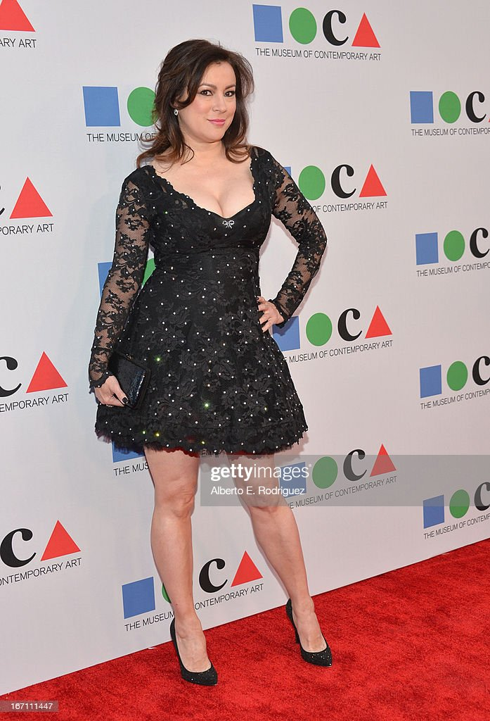 """Actress Jennifer Tilly attends """"Yesssss!"""" MOCA Gala 2013, Celebrating the Opening of the Exhibition Urs Fischer, at MOCA Grand Avenue and The Geffen Contemporary on April 20, 2013 in Los Angeles, California."""