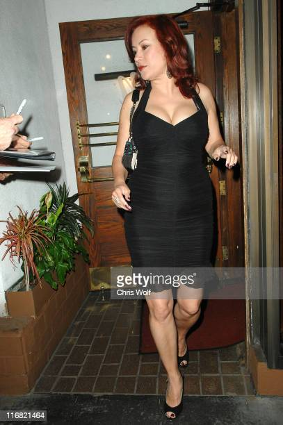Actress Jennifer Tilly leaving Madeo on August 19 2008 in West Hollywood California