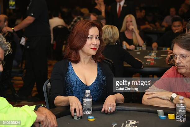 Actress Jennifer Tilly participates during the Raising the Stakes Celebrity Charity Poker Tournament benefiting the One Step Closer Foundation at...