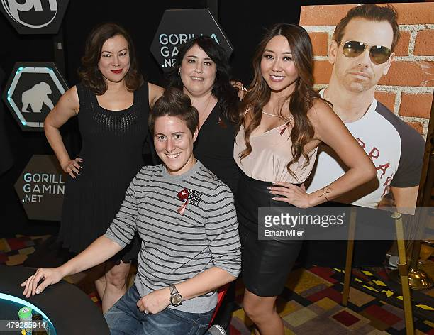 Actress Jennifer Tilly, professional poker player Vanessa Selbst , event coordinator Jennifer Winter and professional poker player and television...