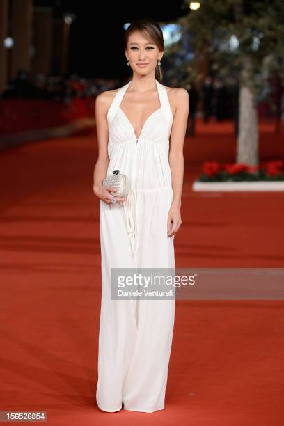 Actress Jennifer Tse attends the 'The Motel Life' Premiere during the 7th Rome Film Festival at Auditorium Parco Della Musica on November 16, 2012 in...