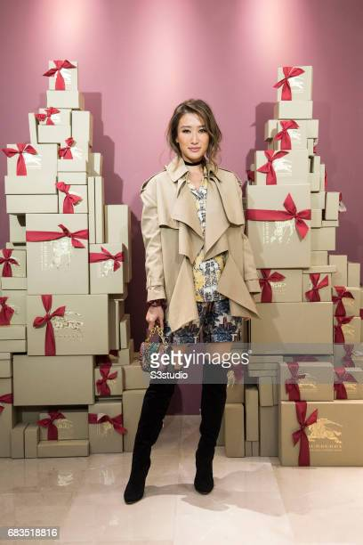 Actress Jennifer Tse poses for a photograph on the red carpet at the Burberry Pacific Place event on 03 November 2016 in Hong Kong, China.