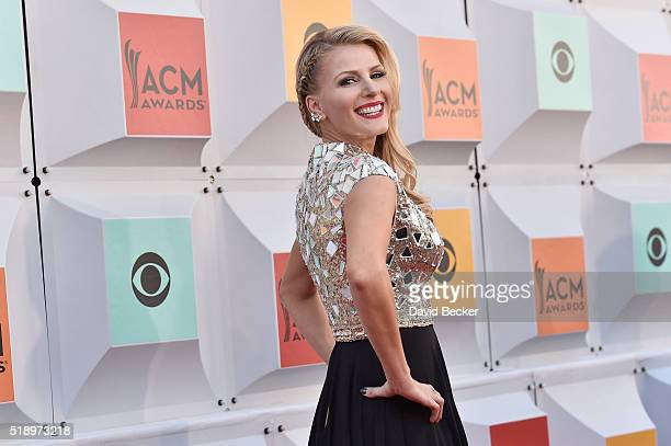 Actress Jennifer Wayne attends the 51st Academy of Country Music Awards at MGM Grand Garden Arena on April 3 2016 in Las Vegas Nevada