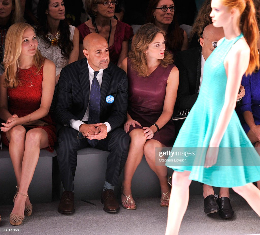 Actress Jennifer Westfeldt, actor Stanley Tucci and Felicity Blunt attend the Nanette Lepore Spring 2013 fashion show during Mercedes-Benz Fashion Week at The Stage Lincoln Center on September 12, 2012 in New York City.