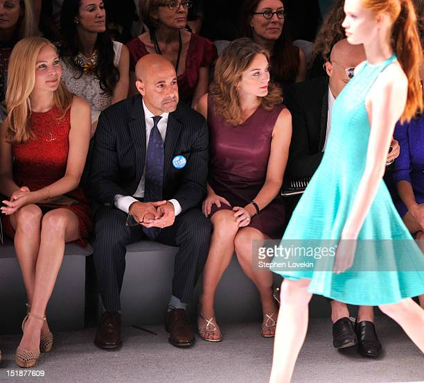 Actress Jennifer Westfeldt actor Stanley Tucci and Felicity Blunt attend the Nanette Lepore Spring 2013 fashion show during MercedesBenz Fashion Week...