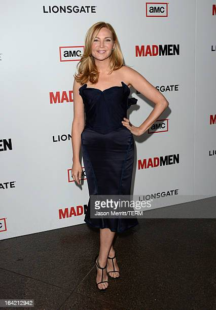 Actress Jennifer Westfeldt arrives at the Premiere Of AMC's 'Mad Men' Season 6 at DGA Theater on March 20 2013 in Los Angeles California