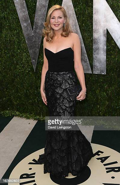 Actress Jennifer Westfeldt attends the 2013 Vanity Fair Oscar Party at the Sunset Tower Hotel on February 24 2013 in West Hollywood California