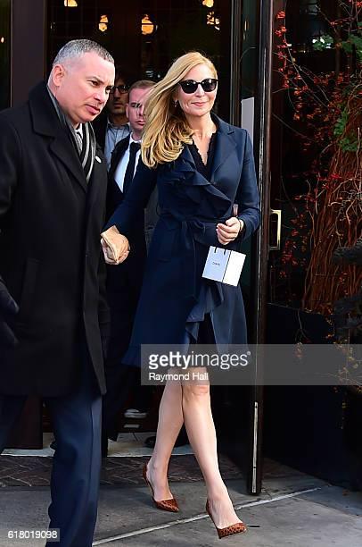 Actress Jennifer Westfeldt leaves the Loconda Verde restaurant on October 25 2016 in New York City