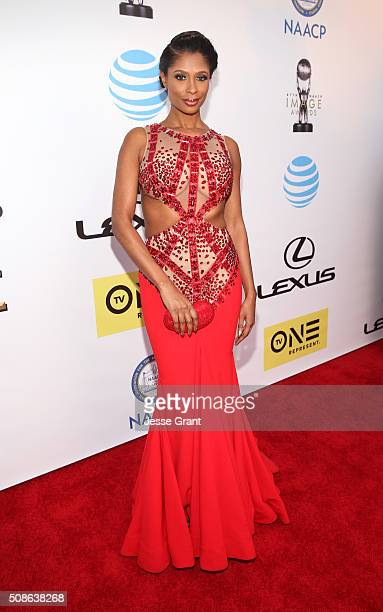 Actress Jennifer Williams attends the 47th NAACP Image Awards presented by TV One at Pasadena Civic Auditorium on February 5 2016 in Pasadena...