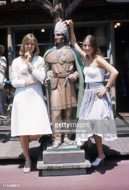 Actress Jenny Agutter Actress Jayne Seymour pose for a portrait at Disneyland in circa 1985 in Los Angeles, California.