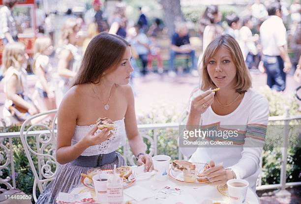 Actress Jenny Agutter Actress Jayne Seymour pose for a portrait at Disneyland in circa 1985 in Los Angeles California