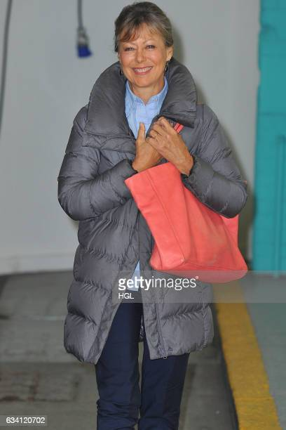 Actress Jenny Agutter seen at the ITV This Morning studios. Sighting on February 7, 2017 in London, England.