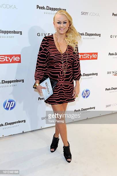 Actress Jenny Elvers Elbertzhagen attends the 'Sex And The City 2' movie night at the Peek Cloppenburg flagship store on May 28 2010 in Berlin Germany