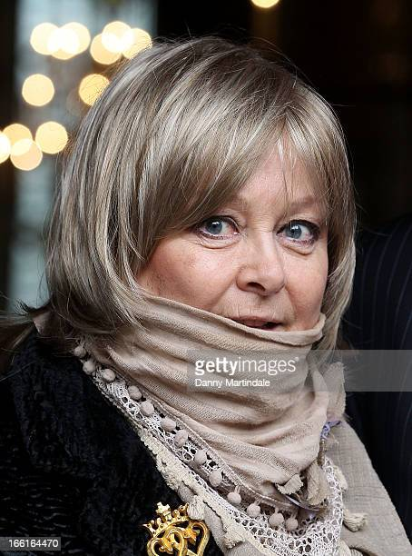 Actress Jenny Hanley attends a memorial for her mother Dinah Sheridan an actress who starred in 'The Railway Children' at St Paul's Church on April 9...